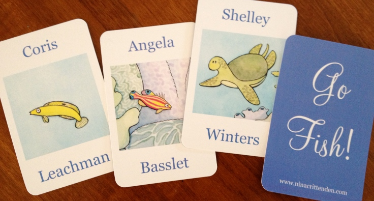 I love these Go Fish! Cards. Very punny idea!