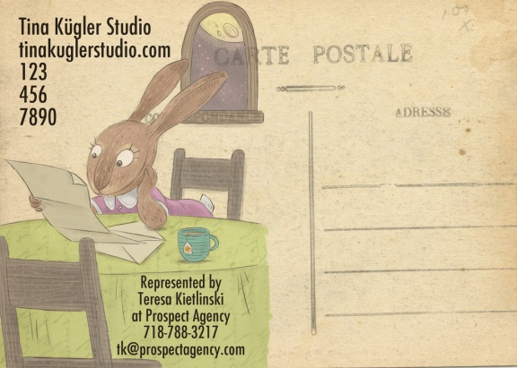 "The ""business on the back"" of this carte postale is magnifique. Vraiment!"