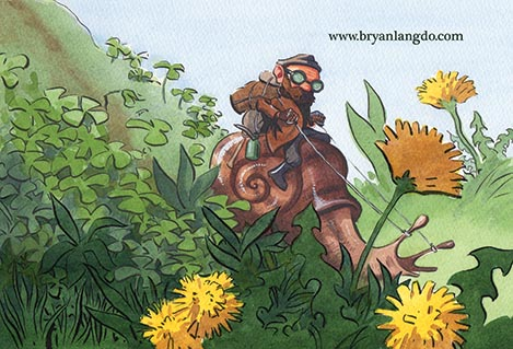 Snail Rider postcard.