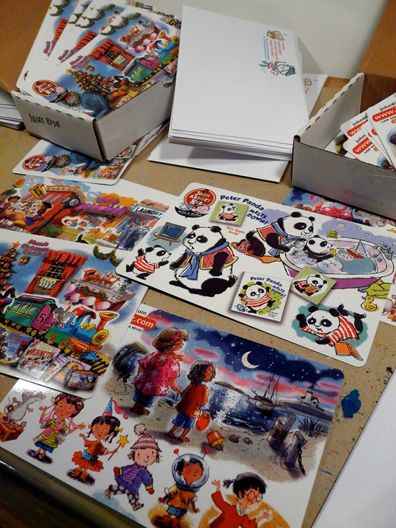 4 postcards mailing