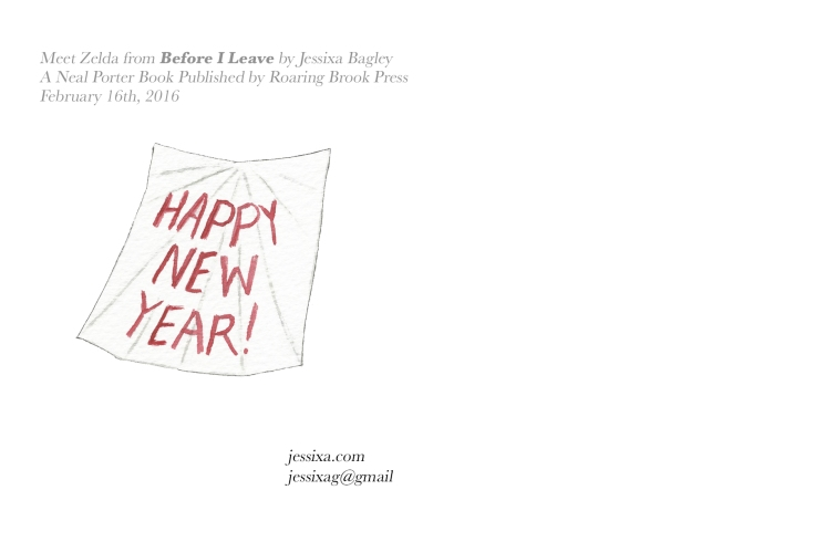 Postcard back. A New Year's card is a great idea.