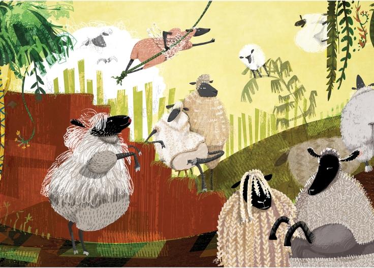 2015 Postcard Sheep Paradise_Front