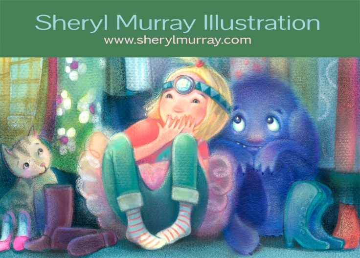 Postcard_Post_Sheryl_Murray_AliceAndMonster_Front