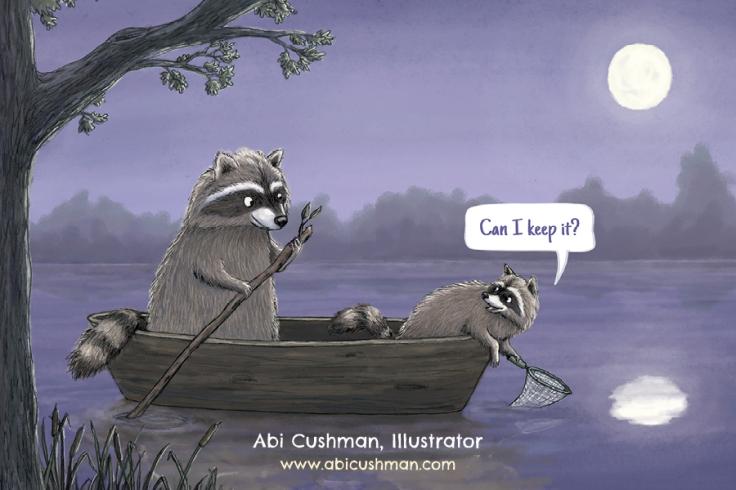 postcard_raccoons